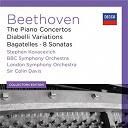 Ludwig Van Beethoven / Orchestre Symphonique De La Bbc / Sir Colin Davis / Stephen Kovacevich / The London Symphony Orchestra - Beethoven: the piano concertos; diabelli variations; bagatelles; 8 sonatas